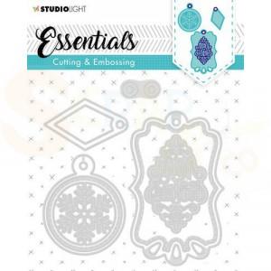 Studiolight, embossing die cut stencil Label Essential nr. 321 STENCILSL321