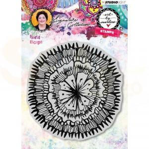 Studio Light, Cling Stamp Floral Escape, Art by Marlene, STAMPBM30