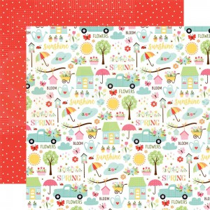 Echo Park Paper, Welcome Spring WES235005, Sunny Spring Days
