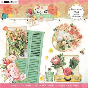 StudioLight, die cut book 15x15 Say it with Flowers SL-SWF-DCB667