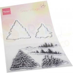 TC0887, stamp & die Marianne Design, Tiny's Sneeuwdorp