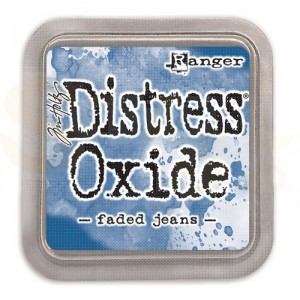 Distress oxide ink faded jeans TDO55945