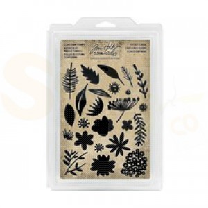 Idea-ology, cling foam stamp cut out Floral TH93703