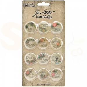 Idea-ology,  Quote Flair buttons (12 st.) TH94116