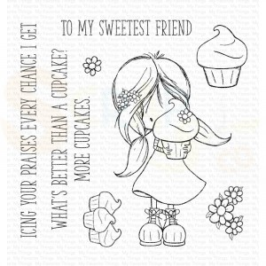 TI006, My Favorite Things clearstamp, TI Cupcake Cutie