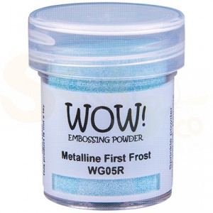WOW! embossing powder, Metalline First Frost WG05R