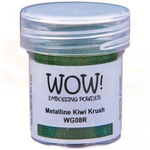 WOW! embossing powder, Metalline Kiwi Krush WG08R