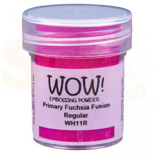 WOW! embossing powder, Primary Fuchsia Fusion WH11R