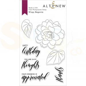 Altenew, clearstamp Wispy Begonia ALT2861