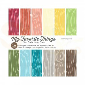 EP-62, My Favorite Things Paper pack 6x6 inch, Woodgrain Whimsy