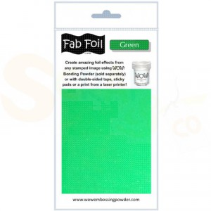 WOW fab foil, green, W216-GR80
