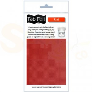 WOW fab foil, red, W216-RE80