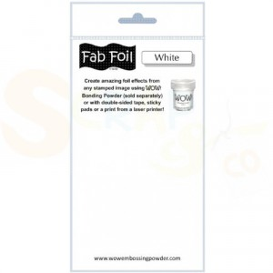 WOW fab foil, snowy white, S216-BW11