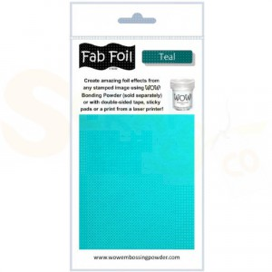 WOW fab foil, teal, W216-BLG30