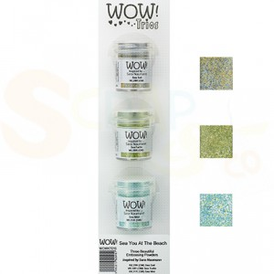 WOW! embossing powder, Trio's See you at the Beach, WOWKT016