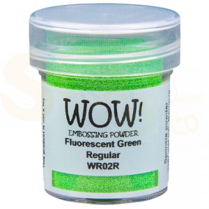 WOW! embossing powder, Fluorescent Green WR02R