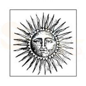 Stamperia, Rubber stamp Sun WTKCC124