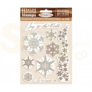 Stamperia, Rubber stamp Snowflakes WTKCC167