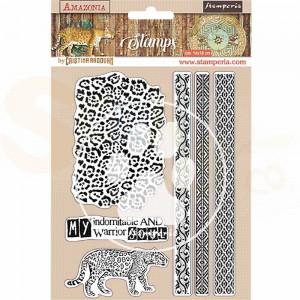 Stamperia, Rubber stamp Amazonia Tribals WTKCC191