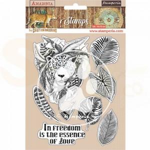 Stamperia, Rubber stamp Amazonia Jaguar WTKCC192