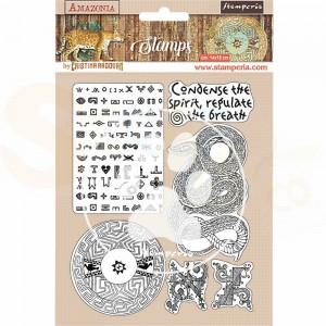 Stamperia, Rubber stamp Amazonia Snake WTKCC194