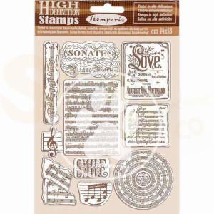 Stamperia, Rubber stamp Passion Music WTKCC197