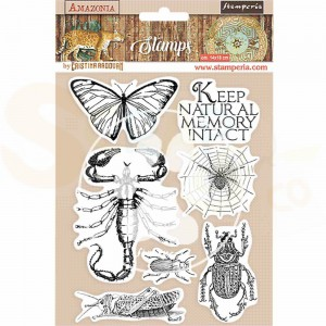 Stamperia, Rubber stamp Amazonia Butterfly WTKCC193