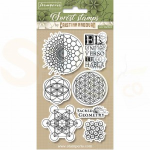 Stamperia, Rubber stamp Sacred Geometry WTKCCR12